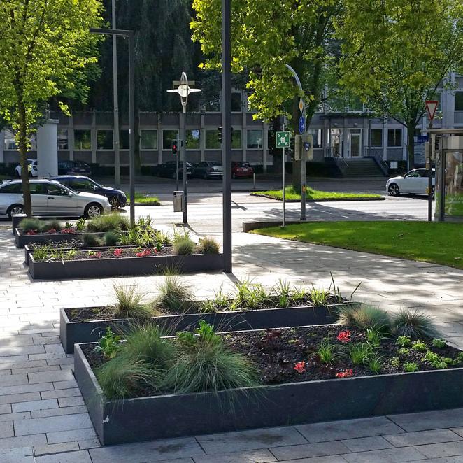 Begrünung öffentlicher Raum Do-City